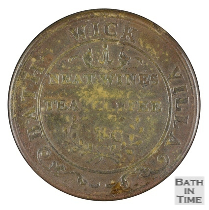 Bathwick Villa metal ticket, Bath Late 18th/early 19th century