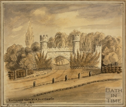 Entrance Gate, Midford Castle 1850