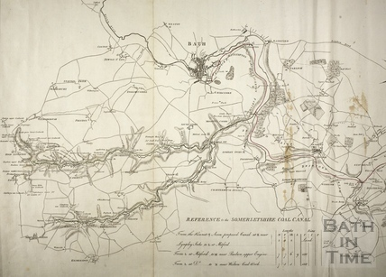 Kennet and Avon Canal and Somersetshire Coal Canal proposed plan 1793