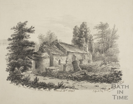 Combe Hay Church near Bath 1842