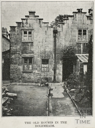 The old houses in Myrtle Place, Dolemeads, Widcombe, Bath