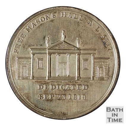Medallion to commemorate the dedication of the Free Masons Hall, Bath 1819
