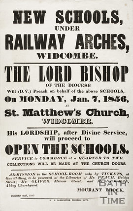 New Schools Under Railway Arches, Dolemeads, Widcombe, Bath 1855