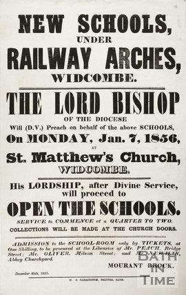 New Schools Under Railway Arches, Dolemeads, Widcombe, Bath 1855