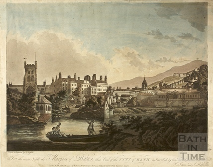 For the most Noble the Marquis of Bath, this view of the City of Bath in inscribed by his Lordship's most obedient servant 1795