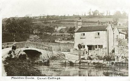 Canal Cottages, Somersetshire Coal Canal, Monkton Combe c.1904