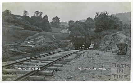 Constructing the Camerton to Limpley Stoke Railway, near Monkton Combe c.1908