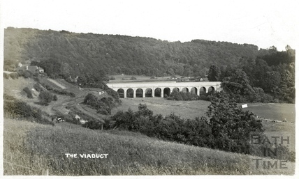 The Viaduct, Limpley Stoke, viewed from Monkton Combe c.1906