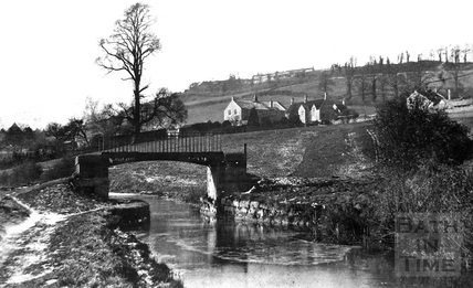 Canal Footbridge, Somersetshire Coal Canal, Monkton Combe c.1900