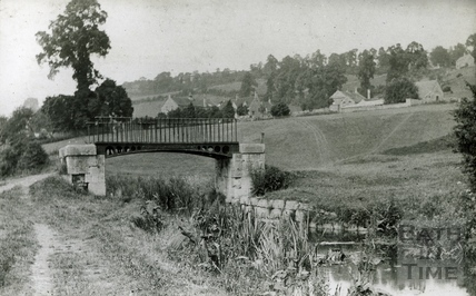 The original footbridge to Longmead playing fields, Monkton Combe c.1906
