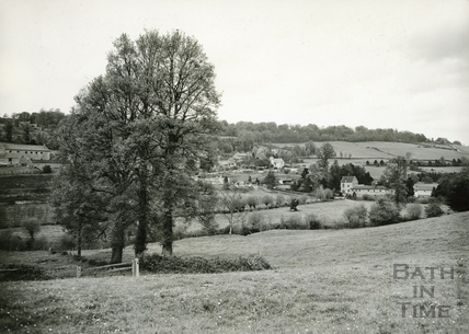 View of Monkton Combe across the valley in the 1930s.