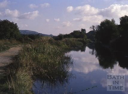 River Avon at Grosvenor, Bath 1975
