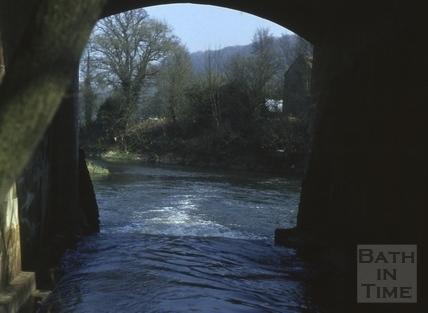 View under bridge, Freshford c.1975