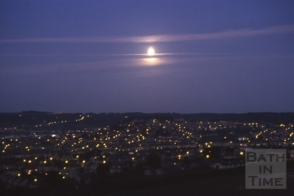 Full moon over Bath from Kelston View 1975