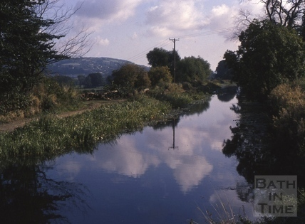 Kennet and Avon Canal, Bath with view to Little Solsbury 1975