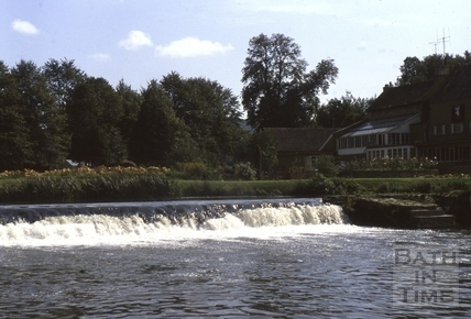 The weir, Bathampton c.1975