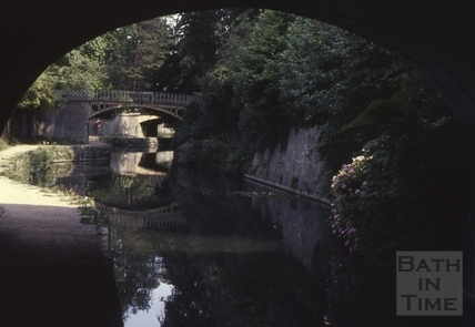By the Kennet and Avon Canal, Bathwick, Bath 1976