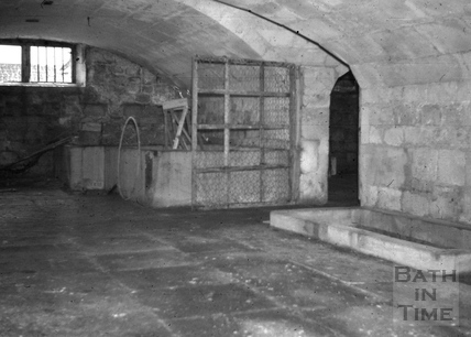 Cellar of brewery buildings, Monkton Combe Brewery, Monkton Combe 1966