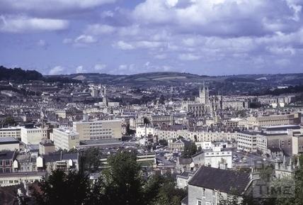 View from Beechen Cliff, Bath 1973