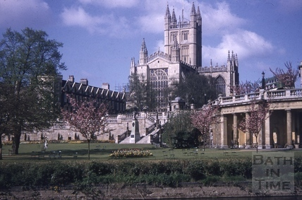 Parade Gardens and Bath Abbey, Bath c.1964