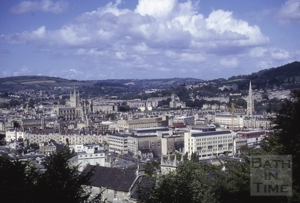 View from Beechen Cliff, Bath 1973