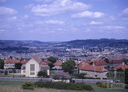 South east view from Southdown, Bath c.1964