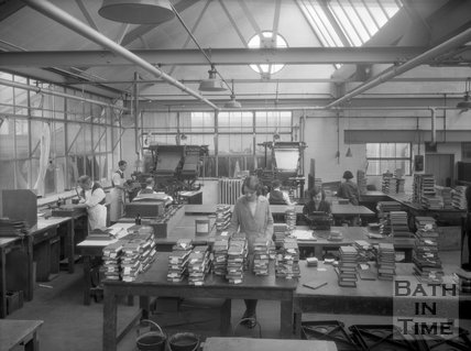 The Cedric Chivers bookbinders, Portway House, Combe Park, Bath, May 1931