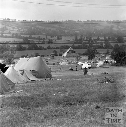 After the Glastonbury Free Festival 29 June 1971