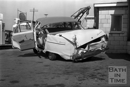 The car that Eddie Cochran was killed in, April 1960