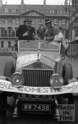 Benny from Nero's in a Rolls Royce, Milsom Street, Bath, 21 February 1976