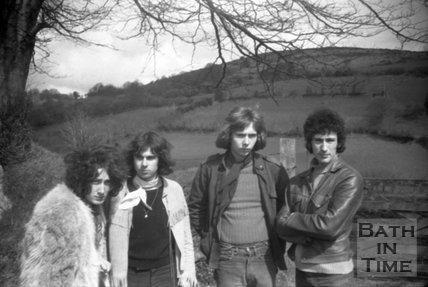 Pop group The Mirror in Bath, c.1970