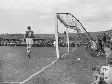 Goalmouth action at Twerton Park, c.1963