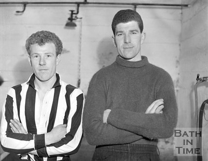 Two players from Bath City, c.1962