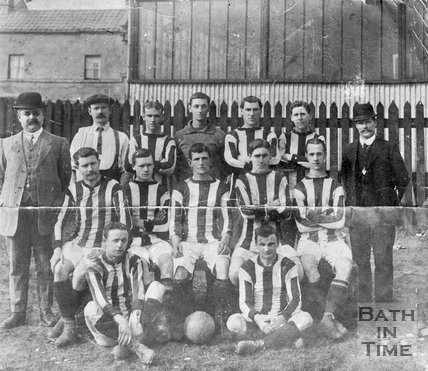 A very early team photograph of Bath City football team, c.1890?