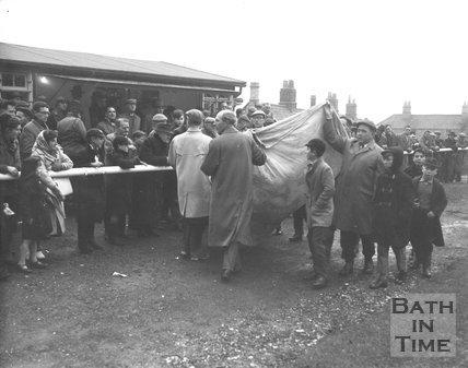 Crowd scene at Bath City Football Club, c.1962