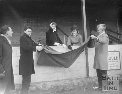 Making a collection at Bath City Football Club, c.1962