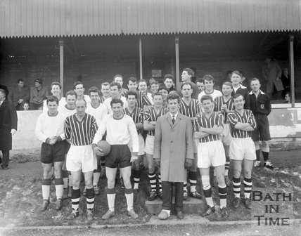 Bath City Football Club and an unidentified team, c.1962