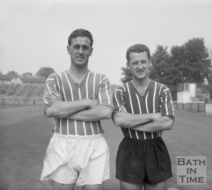 Pat Neil and Ray Drinkwater of Bath City Football Club, c.1962