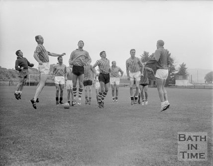 Bath City Football Club in training, c.1962