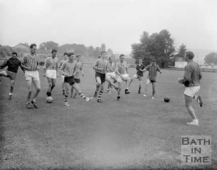 Bath City Football Club in training, c.1962