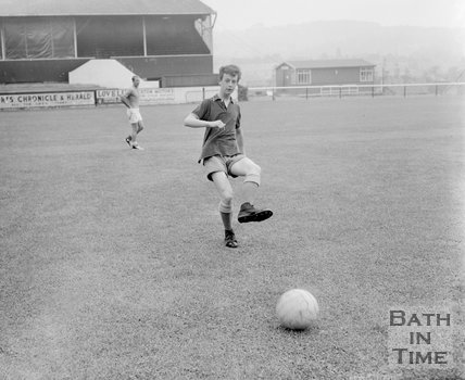 Michael McPhillips of Bath City Football Club, c.1962