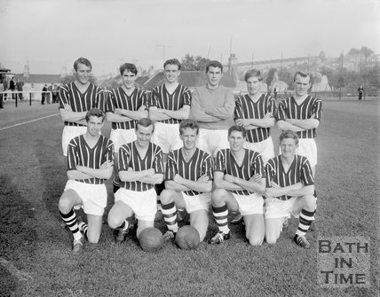 Bath City Football Club team photo, 1963