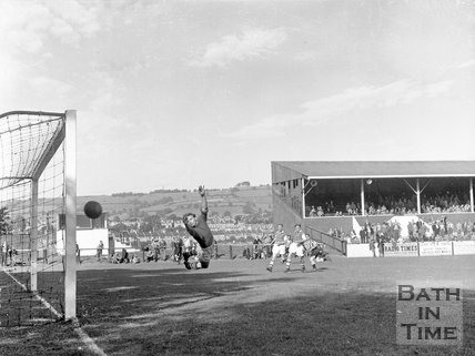 Bath City Football Club vs. an unknown team, c.1962