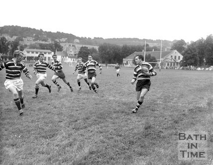 Bath Rugby vs. Bristol at the Recreation Ground, c.1962