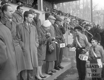 Collecting for St John Ambulance at the Recreation Ground, 2 March 1962