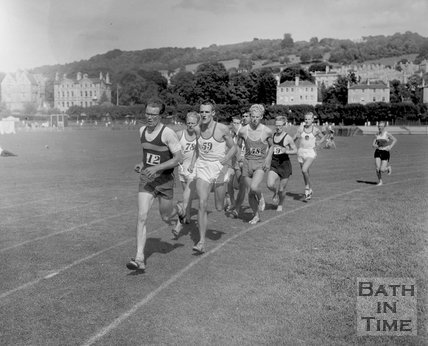 Athletics at the Recreation Ground, c.1963