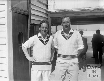 Two unidentified Bath Cricket players, c.1963