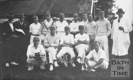 An unidentified cricket team, local to Bath, c.1920s?
