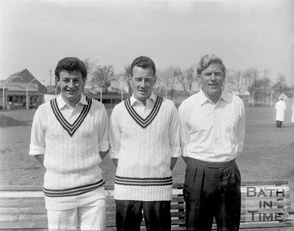 Three unidentified Bath Cricket players, c.1963