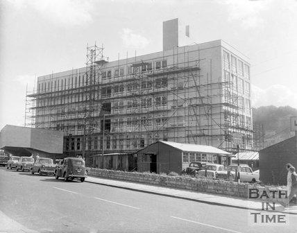 Bath Technical College under construction, James Street West, Bath, 1963